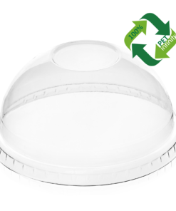 DOME Lid (rPET) with hole, diameter 78mm [7AM 78DH]