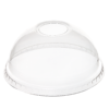 DOME Lid (PET) with hole, diameter 78mm [2AM 78DH]