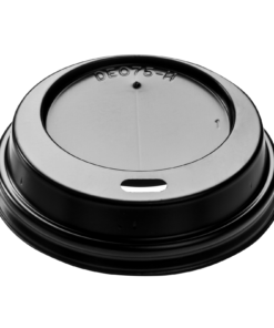 DOME Lid (PS) with sip hole, diameter 75mm [3AE 075]