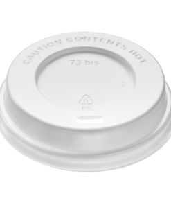 DOME Lid (PS) with sip hole, diameter 73mm [3AE 73BIS]