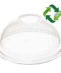 DOME Lid (rPET) with hole, diameter 95mm